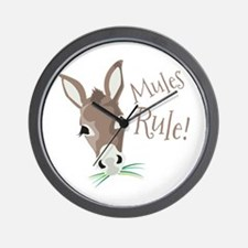 Mules Rule Wall Clock