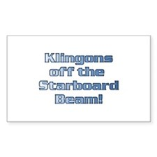Check for Klingons with this Rectangle Decal