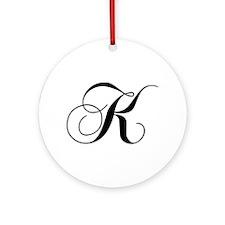 K-cho black Ornament (Round)
