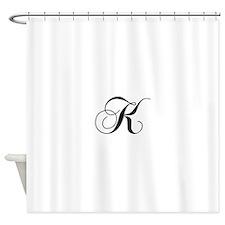 K-cho black Shower Curtain