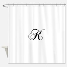 K-cho black Shower Curtain