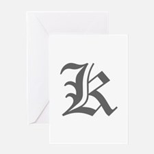 K-oet gray Greeting Cards