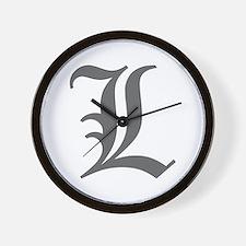 L-oet gray Wall Clock