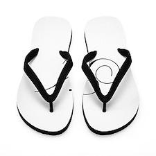 M-cho black Flip Flops