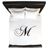 Monogrammed m King Duvet Covers