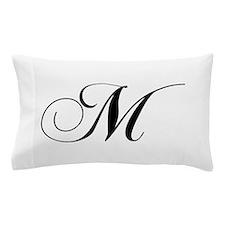 M-cho black Pillow Case