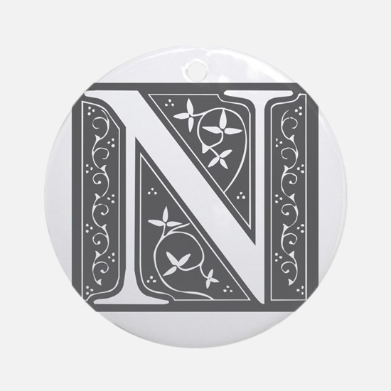N-fle gray Ornament (Round)