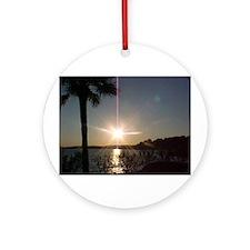 Parris Island Sunset Ornament (Round)