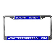 Terror-Free Oil License Plate Frame