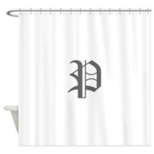P-oet gray Shower Curtain