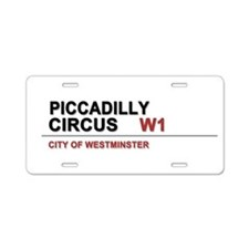 Piccadilly London UK Aluminum License Plate