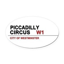 Piccadilly London UK Oval Car Magnet