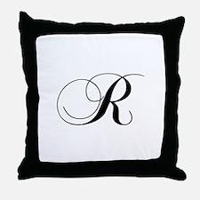 R-cho black Throw Pillow