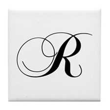 R-cho black Tile Coaster