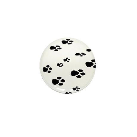 Paw Print Mini Button (10 pack)