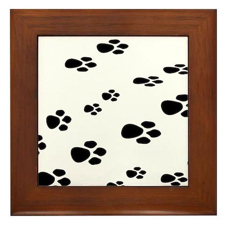 Paw Print Framed Tile