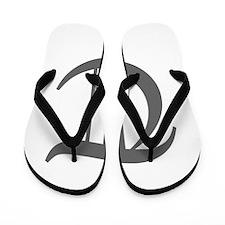 T-oet gray Flip Flops