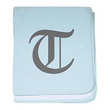 T-oet gray baby blanket