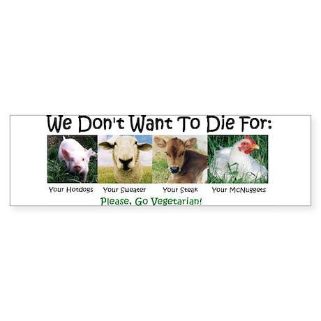 Animal Voices Bumper Sticker