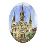 Cathedral Painting Oval Ornament
