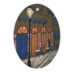 Pirates Alley Night Cafe Oval Ornament