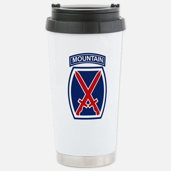10th Mountain Division. Stainless Steel Travel Mug