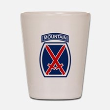10th Mountain Division.psd.png Shot Glass