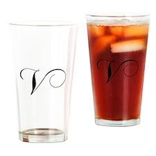 V-cho black Drinking Glass