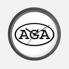 AGA Oval Wall Clock