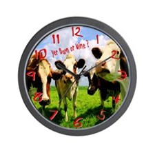 Yer barn or mine Wall Clock