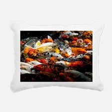 Hungry Koi Rectangular Canvas Pillow