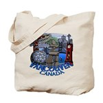 Vancouver Canada Souvenir Tote Bag Landmark Art