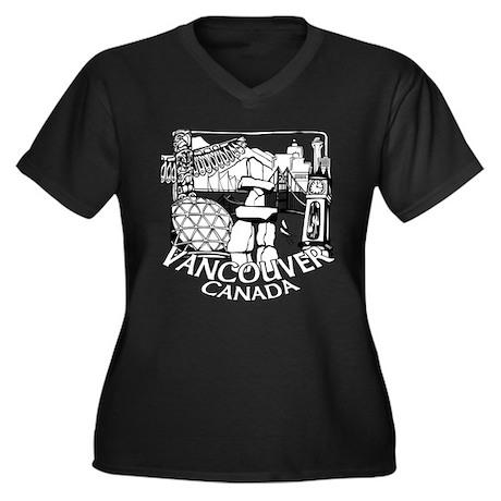Vancouver Souvenir Women's Plus Size Dark T-shirt
