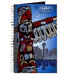 Vancouver BCSouvenir Journal Notebook Totem Art