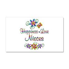 Nieces Love Car Magnet 20 x 12