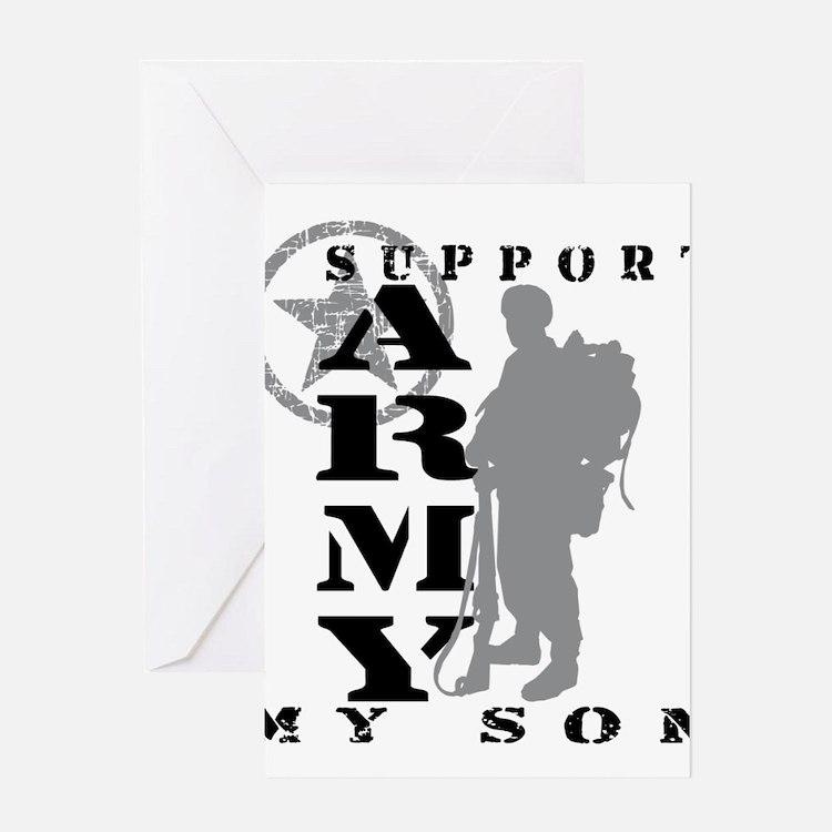 Cute Army mom Greeting Card