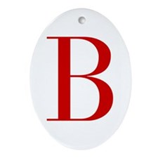 B-bod red2 Ornament (Oval)