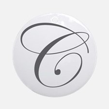 C-edw gray Ornament (Round)