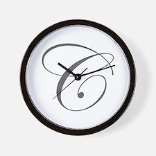 C-edw gray Wall Clock