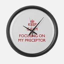 Keep Calm by focusing on My Prece Large Wall Clock