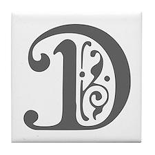 D-pre gray Tile Coaster