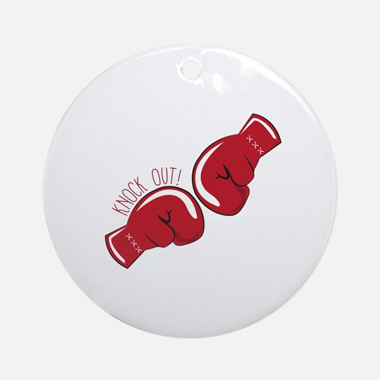 Knock Out Ornament (Round)