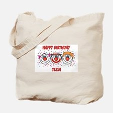 Happy Birthday TESSA (clowns) Tote Bag