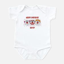 Happy Birthday KATHY (clowns) Infant Bodysuit