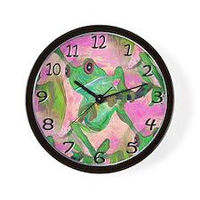 Funky frog Wall Clock