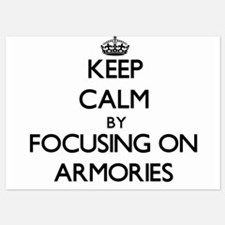 Keep Calm by focusing on Armories Invitations