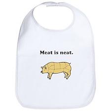 Meat is neat. Bib