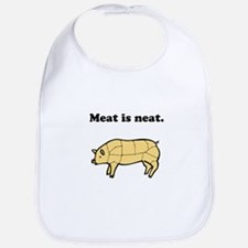 Meat is neat. Bib