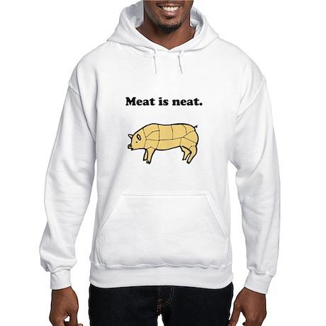 Meat is neat. Hooded Sweatshirt