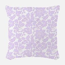 Elegant lavender and white vin Woven Throw Pillow